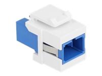 Bild von DELOCK Keystone Modul SC Simplex Buchse zu SC Simplex Buchse blau/weiss