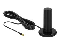 Bild von DELOCK 5G LTE Antenne SMA Stecker 0-3dBi star omnidirektional mit magnetischem Standfuss und Anschlusskabel RF195 3m outdoor schwarz