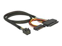 Bild von DELOCK Kabel SFF-8643 Stecker > U.2 SFF-8639 Stecker + SATA Strombuchse 50 cm