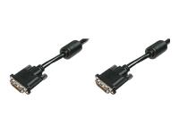 Bild von ASSMANN Monitorkabel DVI 2m Dual Link St/St 2Ferrit Kerne Anschlusskabel K8 bulk 24+1