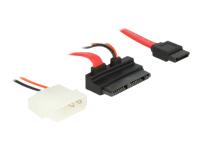 Bild von DELOCK Kabel Micro SATA 16 Pin St > 7 Pin + 5 V Molex 60cm gewinkelt
