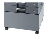 Bild von KYOCERA CB-481L Unterschrank Metall niedrig inkl. Rollen für Konfigurationen mit 2 oder 3 optionalen Kasetten