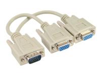 Bild von INLINE VGA Y-Adapterkabel VGA Stecker auf 2x VGA Buchse