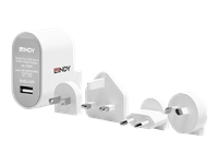 Bild von LINDY 12W USB Typ A Charger Multi-Country