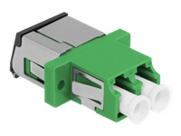 Bild von DELOCK LWL Kupplung mit Laserschutzklappe LC Duplex Buchse zu LC Duplex Buchse Singlemode grün