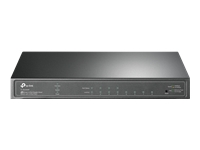 Bild von TP-LINK JetStream 8-Port Gigabit Smart Switch 8xGigabit RJ45-Ports einschliesslich 1 PoE IN-Port
