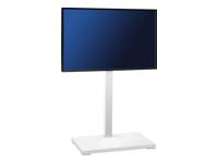 Bild von HAGOR ELIA 115 Weiss Standsaeule LCD Plasma freistehend 81 bis 139 cm 32 bis 55 Zoll VESA 600x400 max Traglast 60 kg