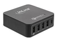 Bild von INLINE Quick Charge 3.0 USB Ladegeraet 4x USB A + USB C 40W schwarz