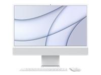 Bild von APPLE iMac 4,5K 59,62cm 23,5Zoll Apple M1 Chip 8C CPU und 7C GPU 16C N.E. 8GB 256GB SSD MM MaKey DE - Silber