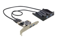 Bild von DELOCK Front Panel 3,5 2x USB 3.0 + 2x USB 3.0 am Slotblech schwarz