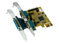 Bild von EXSYS 44140-2 PCIe x1 Karte 2S/1P Multi I/O