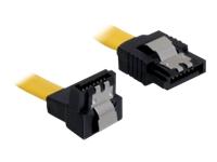 Bild von DELOCK Kabel SATA 6Gb/s 10cm gelb un/ge Metall