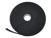 Bild von ASSMANN Haken-und-Schlaufen Verschlussband Gewebe 10m x 15mm x 2,6 mm auf Rolle sw