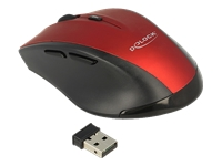 Bild von DELOCK Ergonomische optische 5-Tasten Maus 2,4 GHz wireless