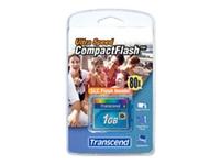 Bild von TRANSCEND CFCard 1GB Ultra 80X compact flash DMA-Modus PCMCIA Removable / IDE FD-Modus (AUTO-DETECT)