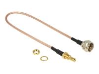 Bild von DELOCK Antennenkabel F Stecker > SMB Buchse zum Einbau RG-316 25 cm
