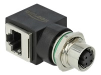 Bild von DELOCK Netzwerkadapter M12 4 Pin D-kodiert Buchse zu RJ45 Buchse
