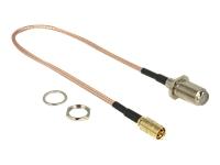 Bild von DELOCK Antennenkabel F Buchse zum Einbau > SMB Stecker RG-316 25 cm