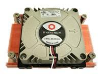Bild von DYNATRON A18 AMD AM4 Kuehler 1U Kuehlkoerper Kupfer mit Skiving Technologie Aktiv mit PWM und bis zu 95W TDP