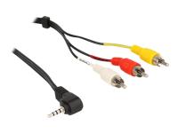 Bild von DELOCK Kabel Klinke 3,5mm 4 Pin ST gewinkelt  auf 3x Cinch ST  1,5m