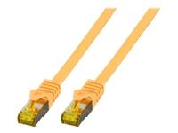 Bild von EFB Patchkabel Cat6a S/FTP LSZH mit Cat7 Rohkabel 0,25m GELB 10 Gigabit Ethernet 600MHz 4x2xAWG26/7 Flammwidrig Raucharm
