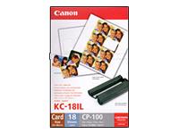 Bild von CANON KC-18IL Papier 8stk pro Blatt Stickerpapier fuer CP-100