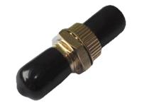 Bild von DIGITUS ST / ST Simplex Kupplung Zirkonia Keramikhülse Metallgehäuse schwarze Kappen Multimode