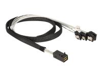 Bild von DELOCK Kabel Mini SAS HD SFF 8643 x4 Stecker > 4 x SATA Buchse 1 m