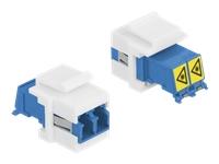Bild von DELOCK Keystone Modul LC Duplex Buchse zu LC Duplex Buchse mit Laserschutzklappe innen
