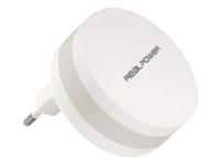 Bild von REALPOWER PBC 1800 Powerbank 1.800 mAh mit einklappbarem Netzstecker 1.800mAh