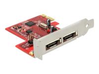 Bild von DELOCK PCIe x1 SATA 6Gb/s 2x extern eSATA mit RAID Low Profle Form Faktor