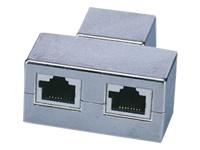 Bild von ASSMANN CAT 5e Modular-Kupplung geschirmt 2x RJ45 zu 1x RJ45 Dreifach-Kupplung