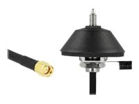 Bild von DELOCK Antennenfuss M6 mit Anschlusskabel RG-58 C/U 3 m schwarz SMA Stecker