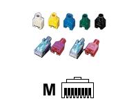 Bild von HIROSE 10x TM11 ModularStecker Cat5e geschirmt + Knickschutztuelle grau