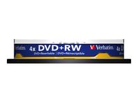 VERBATIM 10x DVD+RW 4,7 GB 4x SP - Kovera Distribution