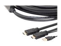 Bild von ASSMANN HDMI High Speed Anschlusskabel Typ A m/ amp. St/St 10.0m m/Ethernet Ultra HD 4K HDMI 2.0 CE sw gold