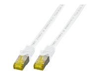 Bild von EFB Patchkabel Cat6a S/FTP LSZH mit Cat7 Rohkabel 0,25m WEISS 10 Gigabit Ethernet 600MHz 4x2xAWG26/7 Flammwidrig Raucharm