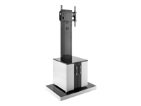 Bild von HAGOR Info-Tower CL Standsaeule fuer Displays von 81-140 cm inklusive abschliessbarem Schrank fuer AV Komponenten