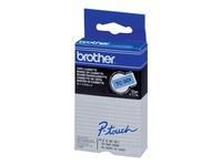 Bild von BROTHER P-Touch TC-501 schwarz auf blau 12mm