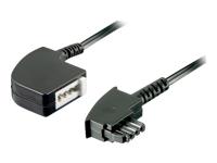 Bild von GOOBAY 10x TAE-F Verlängerung 4-polig 6 Meter schwarz TAE-F-Stecker auf TAE-F-Buchse