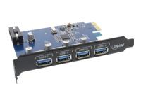 Bild von INLINE PCIe Schnittstellenkarte 4x USB 3.0 schwarz