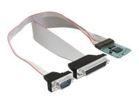 Bild von DELOCK MiniPCIe I/O PCIe full size RS-232 1x DB9 Stecker, 1x Parallel DB25 Buchse