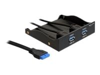 Bild von DELOCK Front Panel 3,5 2x USB 3.0 schwarz (Pinheader)