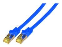 Bild von EFB Patchkabel Cat6a S/FTP LSZH mit Cat7 Rohkabel 0,5m BLAU 10 Gigabit Ethernet 600MHz 4x2xAWG26/7 Flammwidrig Raucharm