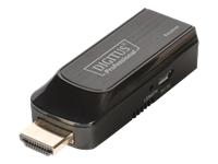 Bild von DIGITUS Mini HDMI Extender Set  Full HD 50m Cat6/6A/7 Strom via Micro USB Kabel schwarz