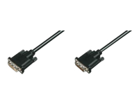 Bild von ASSMANN DVI Verlängerungskabel DVI24+1 St/Bu 10.0m DVI-D Dual Link sw