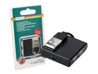 Bild von DIGITUS USB2.0 Hub 4-port 4xUSB A Buchse 1xUSB B mini Buchse ohne Netzteil mit USB Anschlusskabel