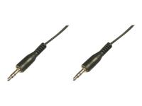 Bild von ASSMANN Audio Anschlusskabel stereo 3.5mm 2,50m CCS 2x0.10/10 M/M schwarz