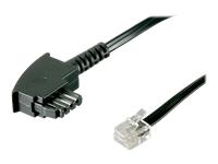 Bild von GOOBAY 10x TAE-F Anschlusskabel 15 Meter schwarz TAE-F-Stecker auf RJ11/RJ14-Stecker 6P4C f. Geräte mit SIEMENS/TELEKOM PIN-Belegung