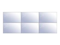Bild von HAGOR VWR 3x2 55 Landscape feinjustierbarer Videowall Mehrfachrahmen Tragl pro display 30kg VESA Norm 600x400 Wandabstand 67mm